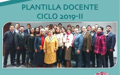 Catedráticos Ciclo Escolar 2019-II
