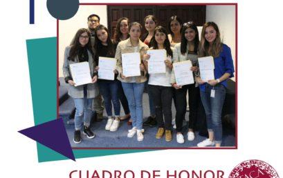 Cuadro de Honor Ciclo 2019-II