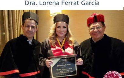 Reconocimiento a nuestra rectora Dra. Lorena Ferrat García